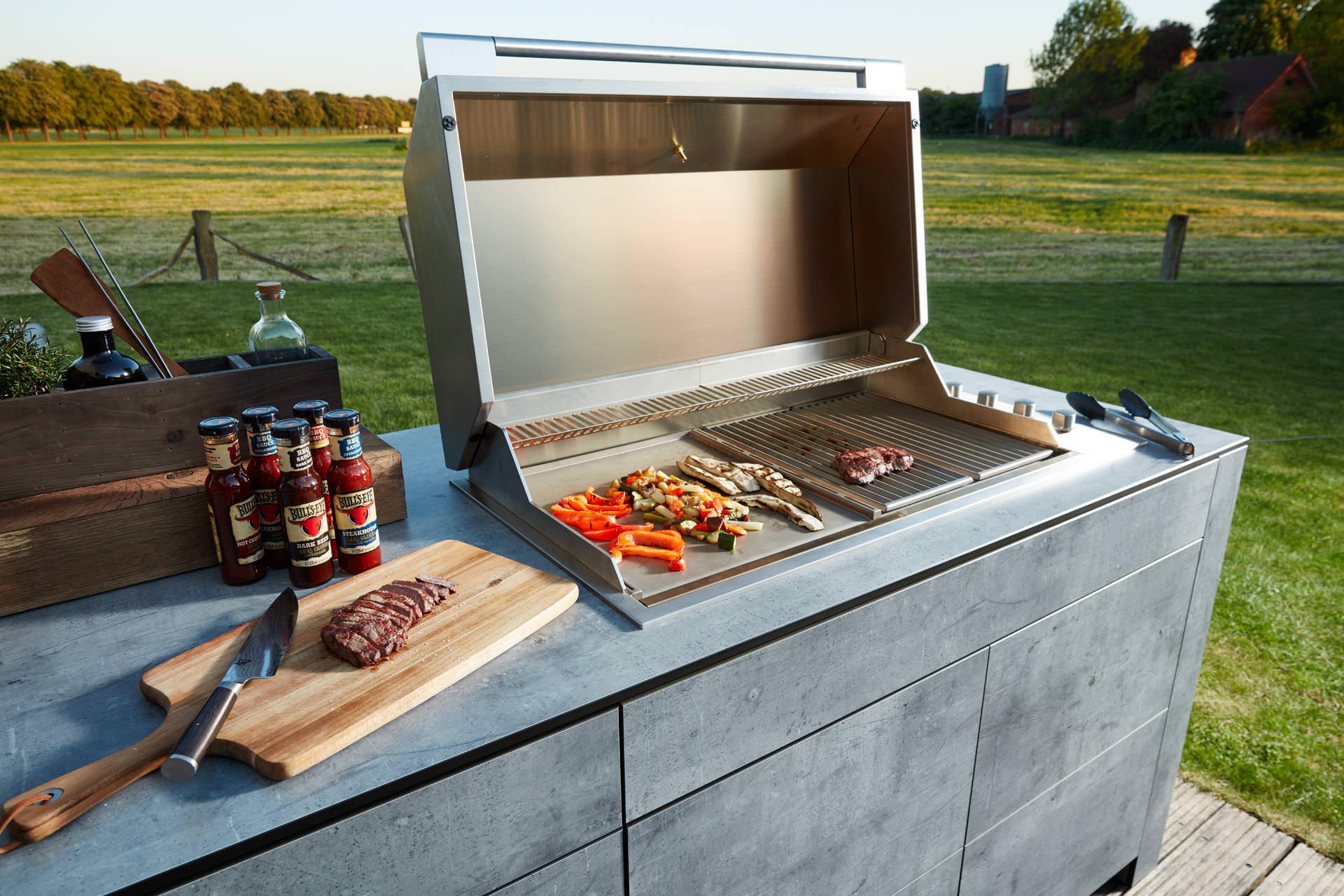 Outdoor Küche Mit Grill : Luxus outdoorküche made in germany handwerk aus leidenschaft